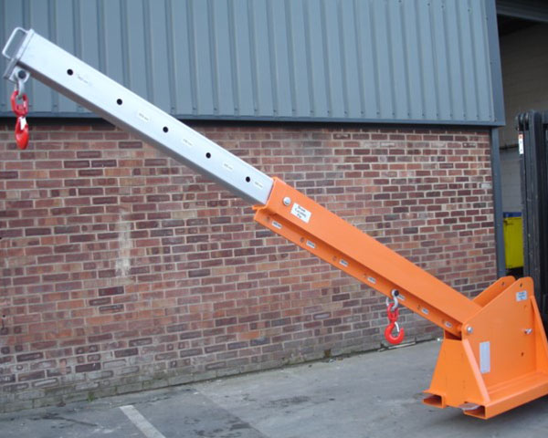 Fork Mounted Height Adjustable Extending Jib
