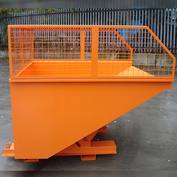 Combi Tipping Skip With Mesh Enclosure